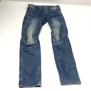 G-Star Raw Denim Men's Jeans Low Tapered Size 30